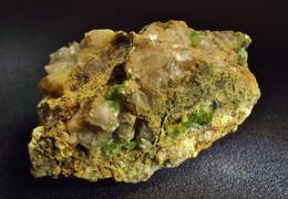 Adamite (Var: Nickel-bearing Adamite) ( 3 X 2 X 1.5 Cm ) - KM 3 - Lavrion - Greece - Minéraux