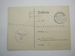 1937 , ECKERNFÖRDE  , Klarer Stempel Auf Dienstkarte - Allemagne