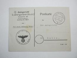 1945,  LUDWIGSLUST , Klarer Stempel Auf Dienstkarte - Allemagne