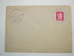 1942 , RIGA - Tag Der Briefmarke , Klarer Stempel Auf Brief - Allemagne