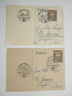 1941 , BERLIN - Tag Der Briefmarke , Klarer Stempel Auf 2 Karten - Allemagne