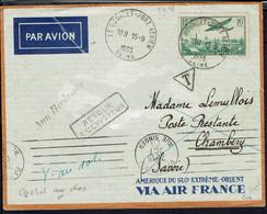"""Fr - P.A. N° 8 Sur Enveloppe """"XVII Foire De Chambéry 1ère Liaison Aérienne Chambéry-Lyon 15-9-36 - B/TB - - Airmail"""