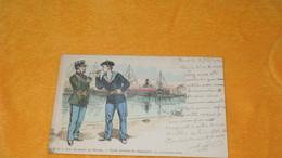 CARTE POSTALE ANCIENNE CIRCULEE DE 1902. / SUR LES QUAIS DU HAVRE. CARTE POSTALE DU DOUANIER...CHAMONIN ILLUSTRATEUR - Andere Illustrators