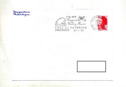 Lettre Flamme Faverges Bicentenaire Revolution - Marcophilie (Lettres)