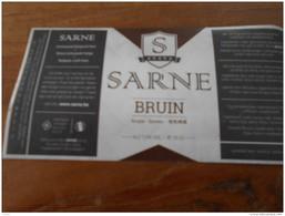ETIQUETTE BIERE SARNE BRUIN - Birra