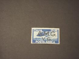 VENEZIA GIULIA - A.M.G.V.G. - P.A. 1946 RONDINE L. 25 AZZURRO - NUOVO(+) - 7. Triest
