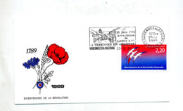 Lettre Flamme  Varennes Arrestation Roi Louis XVI - Marcophilie (Lettres)