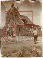 FEINDESLAND .Flandern.Gheluvelt.Zonnebeke Ypern.Eglise Soldats Allemande Guerre 14-18  Photo  WWI - 1914-18