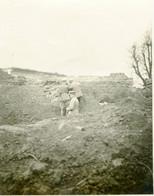 PHOTO ALLEMANDE - OFFICIERS A L'OBSERVATOIRE A SAINT LAURENT (BLANGY)  PRES D'ARRAS PAS DE CALAIS - GUERRE 1914 1918 - 1914-18