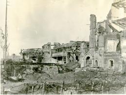 PHOTO ALLEMANDE - RUINES DE LAURENT (BLANGY)  PRES D' ARRAS PAS DE CALAIS - GUERRE 1914 1918 - 1914-18