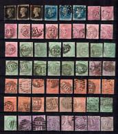 Grande-Bretagne Belle Collection De Classiques Oblitérés 1840/1910. Bonnes Valeurs (YT N° 1 X Trois). A Saisir! - Collections