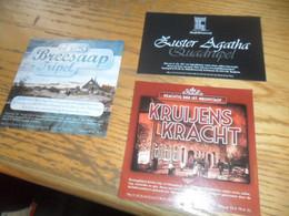 3 Belgische Bieretiketten Gebrouwen Belgie Proefbrouwerij Lochristi - Birra