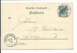 Deutsche Kolonien Dt-Südwestafrika P 5 -  5 Pf. Ziffer O. DD V. Hasis N. Swakopmund O. Text Gelaufen - Colony: German South West Africa