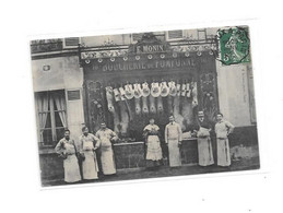 77 - CPA MEAUX ?? : Boucherie De POMPONNE, E. MONIN, - Meaux