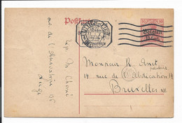 Dt. Bes.gebiete 1914-18 Belgien P 11 I - 10 Ct Germania V. Lüttich N. Brüssel M . Zensur Bedarfsverwendet - Zonder Classificatie