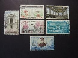 MONACO, Année 1960, YT N° 526 à 531 Oblitérés (le 20 Cts Est Neuf) - Gebruikt