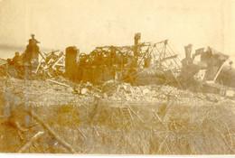 PHOTO FRANÇAISE - LES RESTES DE LA SUCRERIE DE FLAVY LE MARTEL PRES DE CHAUNY - AISNE GUERRE 1914 1918 - 1914-18