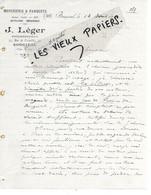 78 - Yvelines - BOUGIVAL - Facture LEGER - Menuiserie, Parquets - 1900 - REF 162A - 1900 – 1949