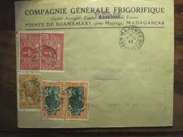 Madagascar 1942 France Majunga Lettre Enveloppe Cover Colonie Pointe De Boanamary - Covers & Documents