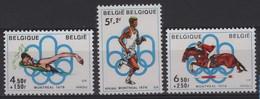 JO76/E9 - BELGIQUE N° 1795/97. Neuf** Jeux Olympiques 1976 - Bélgica
