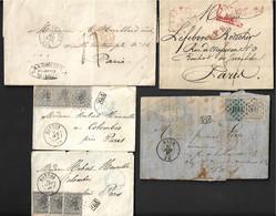 Belgique Un Lot De 5 Lettres Marques Et Timbres. - Marcophilie