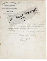 78 - Yvelines - HOUDAN - Facture LESAGE - Carrosserie, Charronnage - 1905 - REF 162A - 1900 – 1949