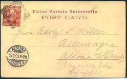 1902, Picture Postcard From ZANZIBAR Sent To Altona (Hamburg) - Zanzibar (...-1963)