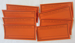 Joli Lot De 8 étiquettes Anciennes Du Service De Santé De L'armée - Ww1 1914 1918 - TTBE Vierges - Pk - 1914-18