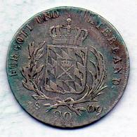 GERMAN STATES - BAVARIA, 20 Kreuzer, Silver, Year 1809, KM #347 - Kleine Munten & Andere Onderverdelingen