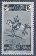 MA181SGDEV-L4183TMA.Maroc.Marocco  .MARRUECOS ESPAÑOL ALZAMIENTO NACIONAL 1937(Ed 181**) Sin Charnela MAGNIFICO - Maroc (1956-...)