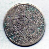 GERMAN STATES - BAVARIA, 30 Kreuzer, Silver, Year 1721, KM #156 - Kleine Munten & Andere Onderverdelingen