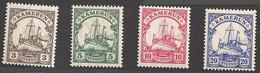 Deutsche Kolonien Kamerun Michel Nummer 20-23 Postfrisch - Colony: Cameroun