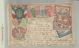 Souvenir De La France 1905  Sur Timbres - Illustration Sur Carte Gauffrée    2020 Septembre 25 - Francobolli (rappresentazioni)