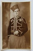 Belle Carte Photo Portrait De Soldat 8e Régiment De Zouaves Armée Française Photographe Lux L. Loche Mourmelon Le Grand - Guerra, Militares