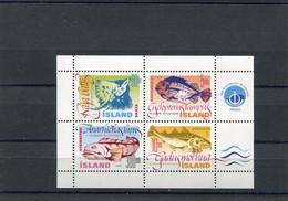 ICELAND Blok Fishes 1998 MNH - 1944-... República