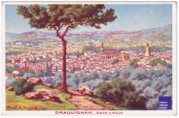 Jolie Carte Postale Ancienne Illustrateur De Draguignan Côte D'Azur Tourisme Circa 1910/20 Imp. Imbert D1-27 - Draguignan