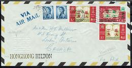 """Hong Kong """"Hongkong Hilton"""" Via Air Mail - Affranchissement Varié Sur Enveloppe Pour Le Canada 11Février 1967 - B/TB - - 1997-... Sonderverwaltungszone Der China"""