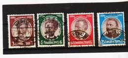RAD550 DEUTSCHES REICH 1934  MICHL  540/43  Gestempelt SIEHE ABBILDUNG - Oblitérés
