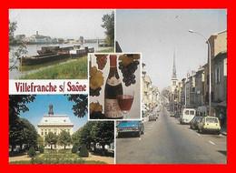 CPSM/gf  (69)  VILLEFRANCHE-sur-SAONE.  Multivues...L640 - Villefranche-sur-Saone