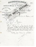 78 - Yvelines - LE VESINET - Facture HELIOT - Quincaillerie, Couleurs, Vernis, Etc - 1914 - REF 162A - 1900 – 1949