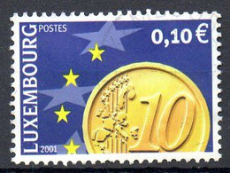 LUXEMBOURG. N°1498 De 2001 Oblitéré. L'Euro. - Münzen