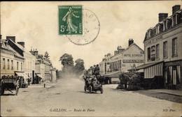 CPA Gaillon Eure, Route De Paris, Hotel D'Evreux - Francia
