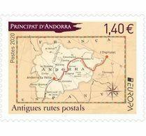 French Andorra 2020 - Europa Antigues Rutes Postals Mnh - French Andorra