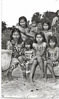 143632 PERU RIO AMPAYACO COSTUMES NATIVE CHILDREN OF THE OKAINA TRIBE 51956 POSTAL POSTCARD - Peru