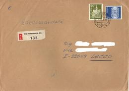 Switzerland 1976 Big Registered Envelope To Italy With 90 C. + 2 Fr. - Svizzera