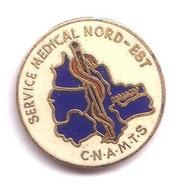 R330 Pin's Cpam C.n.a.m.t.s SERVICE Médical Médecine NORD EST Département Caducée Serpent Nancy Achat Immédiat - Medici