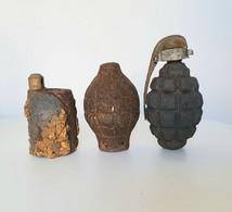 Lot 3 Grenades France Ww1 - Decotatieve Wapens