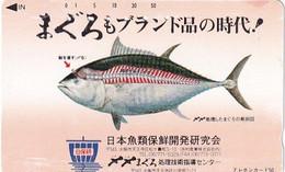 JAPAN - Fish, NTT Telecard 50 Units(330-21959), Used - Peces