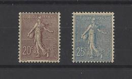 FRANCE.  YT   N° 131-132   Neuf *  1903 - 1903-60 Semeuse Lignée