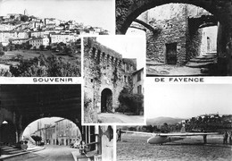 Souvenir De FAYENCE - Vues Multiples - Avion Planeur - Fayence